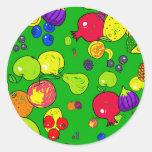 Fruit Wallpaper Classic Round Sticker