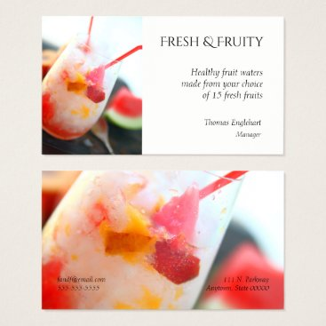 Professional Business Fruit water with peach and watermelon business card