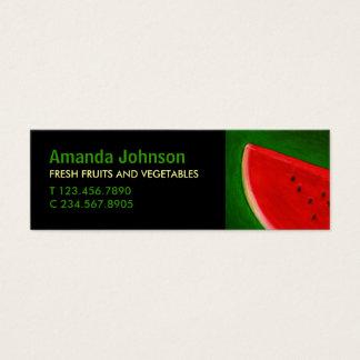 Fruit Watermelon Vivid Custom Mini Business Card