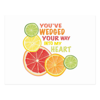 Fruit Wedged Postcard