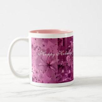 Fruit, Wine and Flowers Two-Tone Coffee Mug