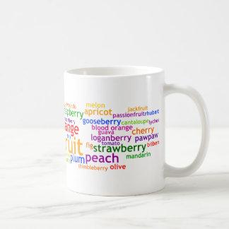 Fruit Wordle Classic White Coffee Mug