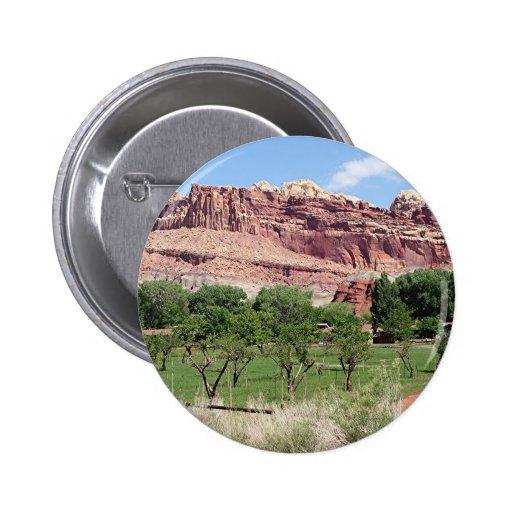 Fruita, Capitol Reef National Park, Utah, USA 2 Pinback Buttons