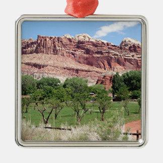 Fruita, Capitol Reef National Park, Utah, USA 2 Metal Ornament