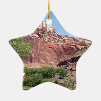 Fruita, Capitol Reef National Park, Utah, USA 4 Ceramic Ornament
