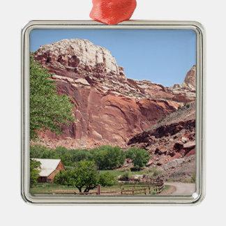 Fruita, Capitol Reef National Park, Utah, USA 4 Metal Ornament