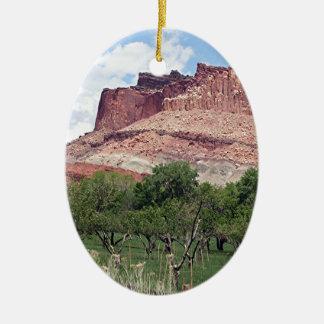 Fruita, Capitol Reef National Park, Utah, USA 5 Ceramic Ornament