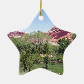 Fruita, Capitol Reef National Park, Utah, USA 6 Ceramic Ornament