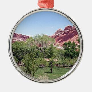 Fruita, Capitol Reef National Park, Utah, USA 6 Metal Ornament