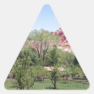 Fruita, Capitol Reef National Park, Utah, USA 6 Triangle Sticker