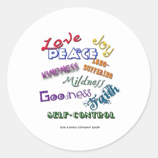 Fruitage Of God's Spirit Classic Round Sticker