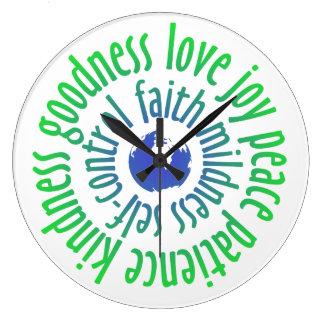 Fruitage of Holy Spirit Round Wall Clock