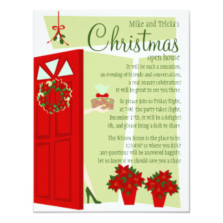 Fruitcake at the Door 4.25x5.5 Paper Invitation Card