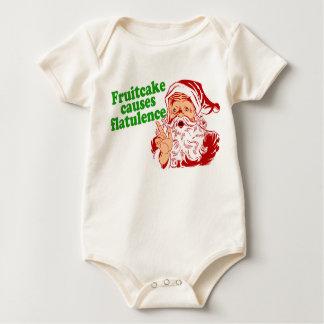 Fruitcake Causes Flatulence Baby Bodysuit