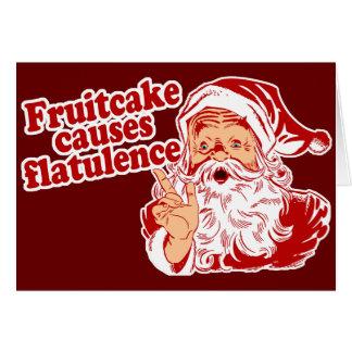Fruitcake Causes Flatulence Card