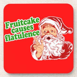 Fruitcake Causes Flatulence Coaster