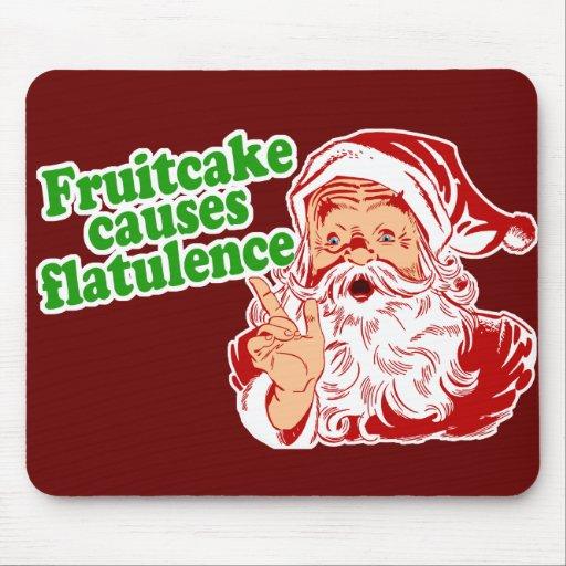 Fruitcake Causes Flatulence Mousepads