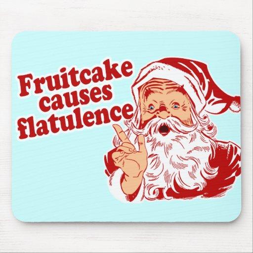 Fruitcake Causes Flatulence Mouse Pads