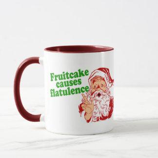 Fruitcake Causes Flatulence Mug