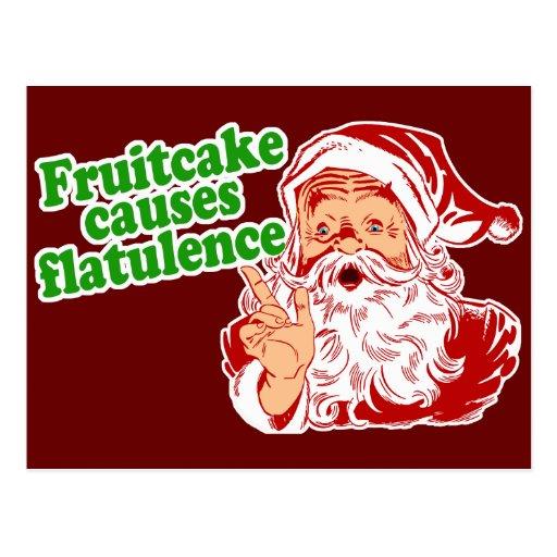 Fruitcake Causes Flatulence Post Cards