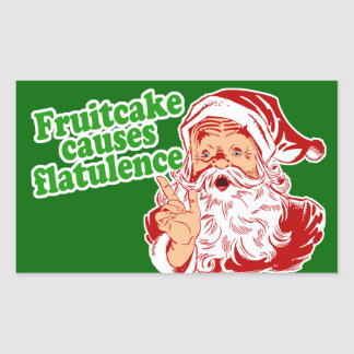 Fruitcake Causes Flatulence Rectangular Sticker