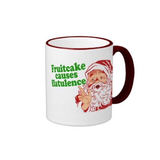 Fruitcake Causes Flatulence Ringer Mug