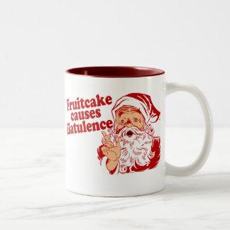 Fruitcake Causes Flatulence Two-Tone Coffee Mug