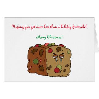 Fruitcake Christmas Card