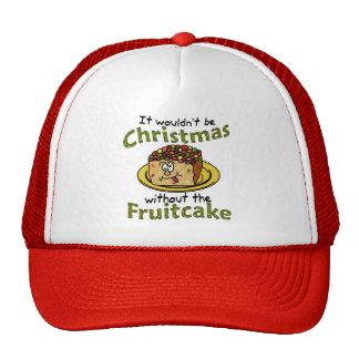 Fruitcake divertido del dibujo animado del navidad gorros bordados
