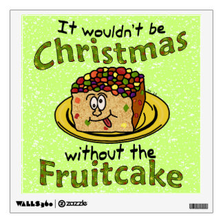 Fruitcake divertido del dibujo animado del navidad vinilo