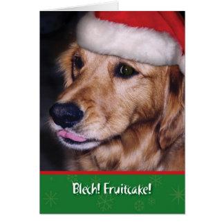 Fruitcake divertido del navidad del perro tarjeta de felicitación