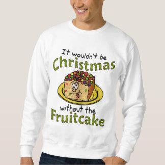Fruitcake feo divertido del dibujo animado del sudadera