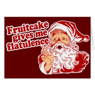 Fruitcake Flatulence Greeting Card