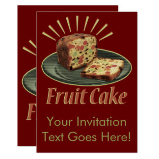 Fruitcake Fruit Cake Card
