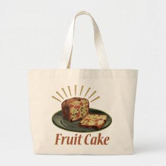 Fruitcake Fruit Cake Large Tote Bag