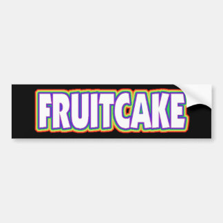 Fruitcake Gay Pride Bumper Sticker