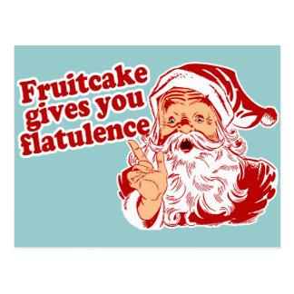 Fruitcake Gives You Flatulence Postcard