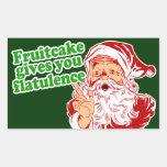 Fruitcake Gives You Flatulence Rectangle Stickers