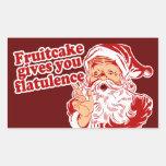 Fruitcake Gives You Flatulence Stickers
