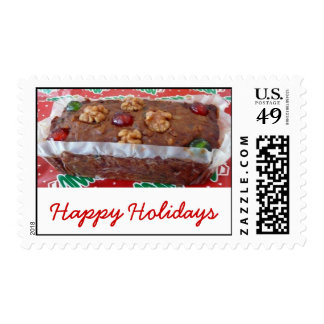 Fruitcake, Happy Holidays Stamps