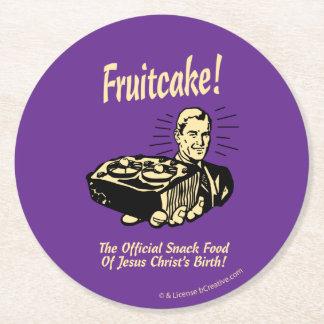 ¡Fruitcake! Los snacks del nacimiento de Jesús Posavasos Desechable Redondo