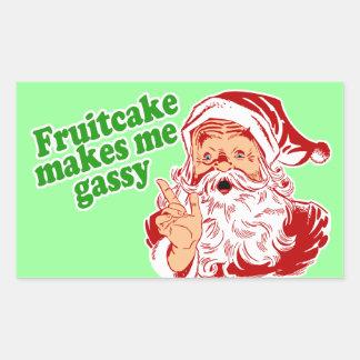 Fruitcake Makes Me Gassy Rectangular Sticker