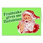 Fruitcake Makes Santa Fart Greeting Card