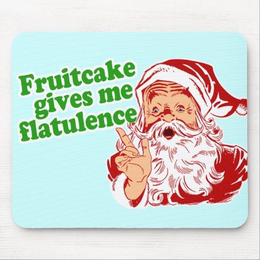Fruitcake Makes Santa Fart Mousepads