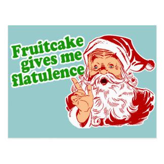 Fruitcake Makes Santa Fart Postcard