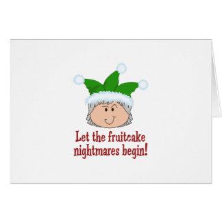 FRUITCAKE NIGHTMARES GREETING CARD