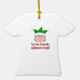 FRUITCAKE NIGHTMARES Double-Sided T-Shirt CERAMIC CHRISTMAS ORNAMENT