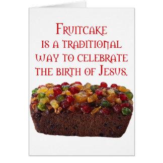 Fruitcake simbólico tarjeta de felicitación