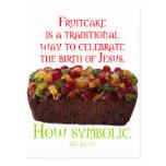 Fruitcake Symbolic Postcard