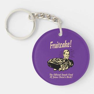 Fruitcake! The Snack Food of Jesus' Birth Keychain